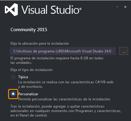 Configuración Visual Studio